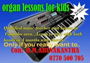 Organ lessons for kids
