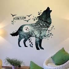 Wolf Moon Wall Sticker