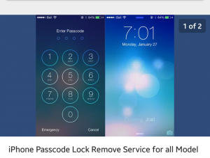 iPhone passcode remove service