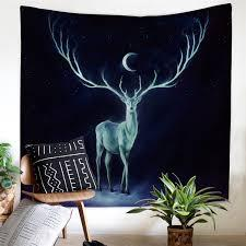 Reindeer Wall Cloth fantasy Tapestry