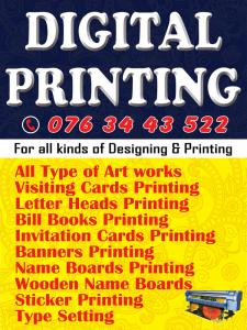 For all kinds of Designing & Printing