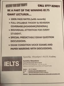 IELTS PERSONAL CLASSES