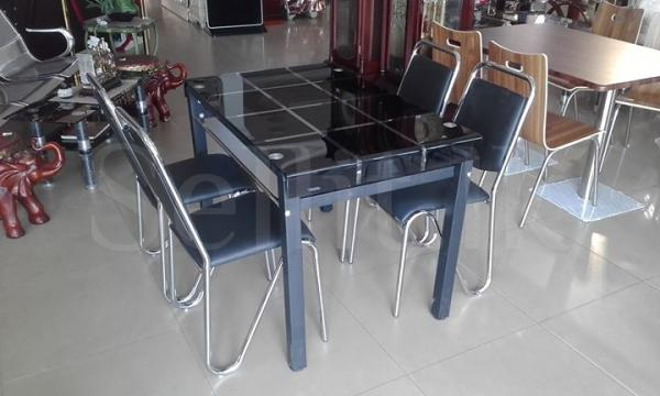 Glass Dining Table + 4 Chair set