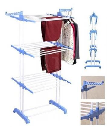 High Quality Moveable & Foldable 3 Layer Clothes Rack