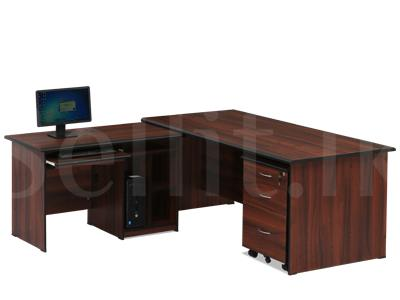 Damro Executive Table + Computer Table + Movable Drawer Box
