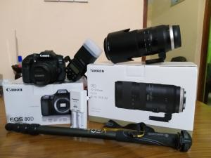 Canon 80D and Tamaron 70-200 /F 2.8 with Accessories