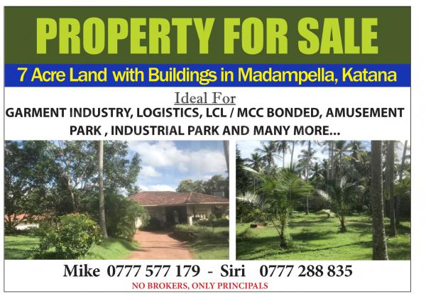 7 Acre land for Madampella, Katana