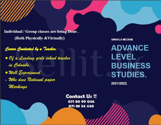 Advanced Level Business Studies Classes