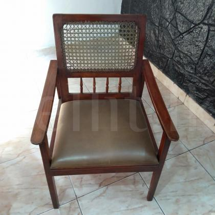 04 Solid Chairs, 40 Years old made from Jak Wood